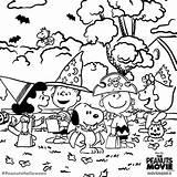 Coloring Snoopy Halloween Peanuts Gang Charlie Brown Adult Printable Fall Sheets Colorful Dibujos Colouring Mandalas Sheet Colorear Para Negro Blanco sketch template