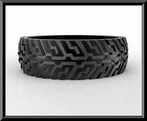 unique tire tread wedding band for him black gold rings With mens tire wedding ring