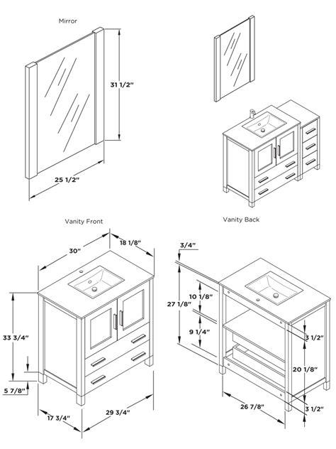 bathroom vanity dimensions 30 quot to 54 quot torino single bath vanity light oak