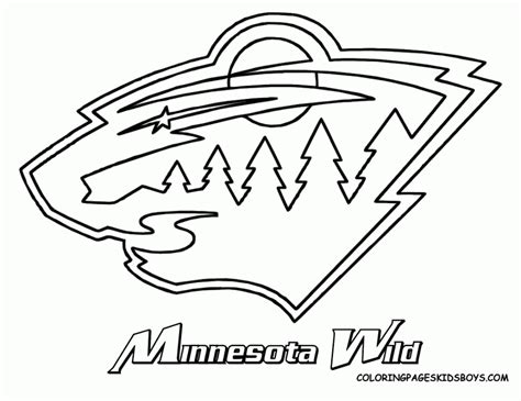 nhl logo coloring pages coloring home