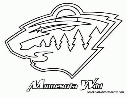 Hockey Coloring Pages Nhl Logos Team Minnesota