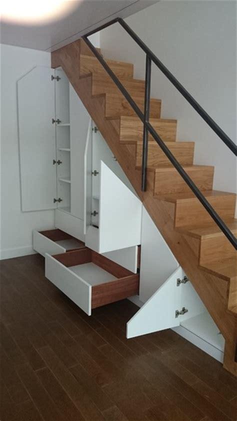 mezzanine escalier garde corps et sous escalier meuble