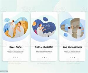 Hajj Guide Step By Step User Interface Kit Vector