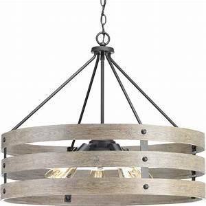 Vintage Light Bulbs Home Depot Progress Lighting Gulliver 5 Light Graphite Drum Pendant