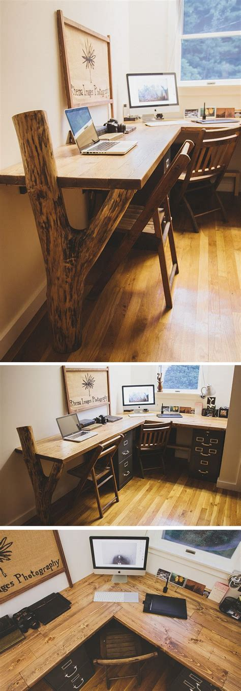 diy rustic office desk how to keep your desk clean and organized simple tricks