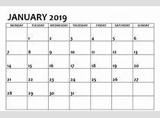 January 2019 Calendar Australia Printable 2018 Calendar