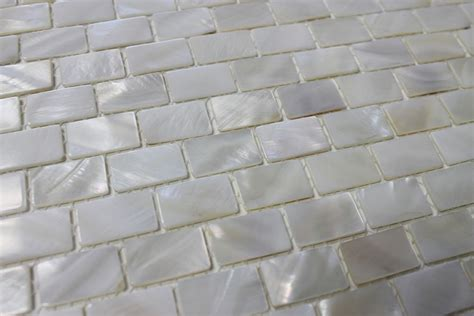 Of Pearl Mini Subway Tile by Of Pearl Oyster White Small Subway Mosaic Tiles