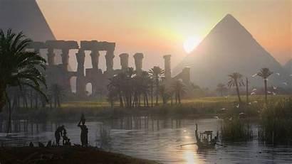 Creed Assassin Egypt Origins Landscape Pyramid Artwork