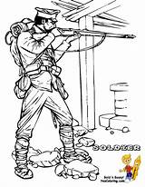 Coloring Soldier War Army Military Allied Pages Colouring Boys Yescoloring Historic sketch template