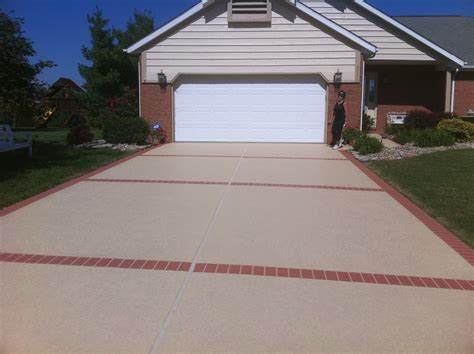concrete driveway ideas driveway ideas decorative concrete resurfacing