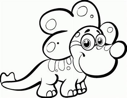 Dinosaur Coloring Pages Cartoon Easy Dinosaurs Totem