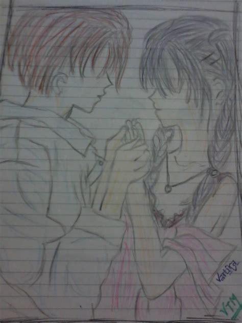 pencil sketch   boy  girl desipainterscom
