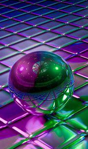 3D Balls Cubes Shapes HD Wallpaper - 1080x1920