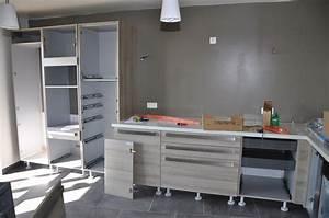 Poser Une Cuisine : arriv e et montage de la cuisine le blog de soso construction maison bois ~ Melissatoandfro.com Idées de Décoration