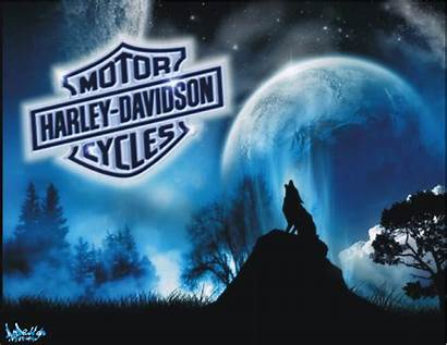 Harley Davidson Wallpapers Wolf Riding Bull Flame