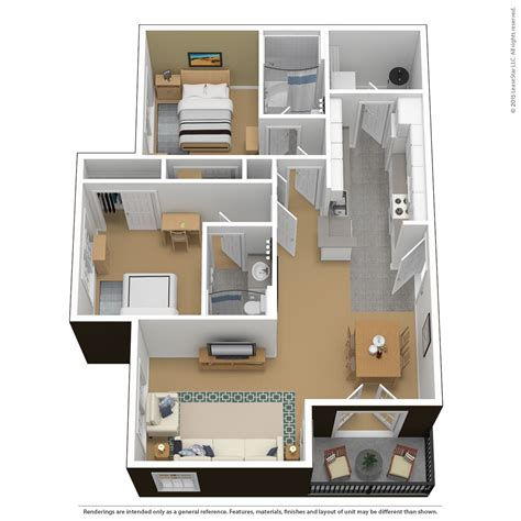 Ideas For 2 Bedroom Apartment by Floor Plans Tours The Courtyards
