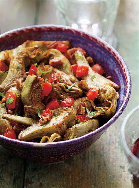ricardo cuisine com artichauts rôtis aux tomates ricardo