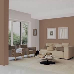 Peinture Murale Couleur : couleur mur salon taupe avec peinture murale couleur lin 2 ~ Melissatoandfro.com Idées de Décoration