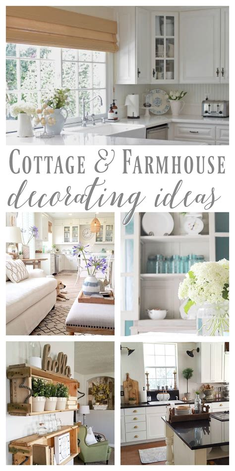 Country Themed Kitchen Ideas - cottage farmhouse features from foxhollowfridayfavs