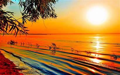 Sunset Orange Wallpapers Nature Sunsets Sunrise Desktop