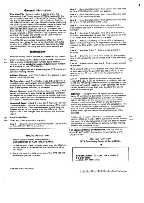 ifta 100 form form ifta 100 mn instructions for ifta quarterly fuel