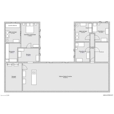 cuisine d exposition a vendre maison en u plan 11 pièces 220 m2 dessiné par ludivine170411