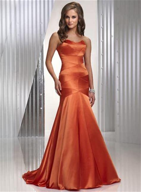 orange simple strapless full length sheath prom gown evening dress zoombridalcom prlog