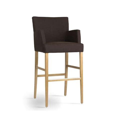 chaise de bar avec accoudoir tabouret de bar avec accoudoirs en bois et tissu shawn
