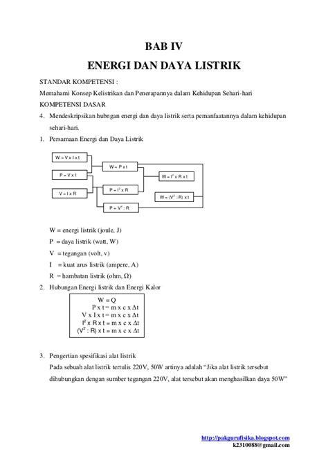rangkuman materi fisika smp kelas ix