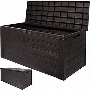 Box Für Sitzauflagen : 120x46x57cm kissenbox gartenbox truhe tischtruhe auflagenbox woody holzoptik mit klappbarem ~ Orissabook.com Haus und Dekorationen