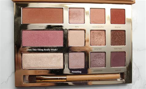tarte swamp queen palette review video swatches  pale skin