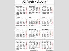 Kalender 2017 afdrukken Gratis printbare PDF