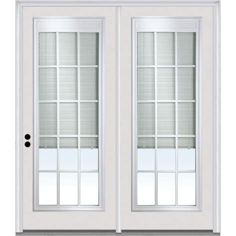patio door mini blinds masonite primed white prehung