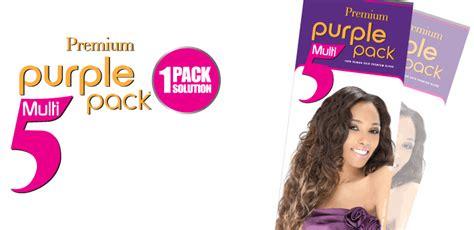 Outre 100% Human Hair Premium Blend Purple Pack 5 Multi Pcs