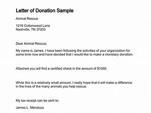 Letter of donation for Giving donation letter template