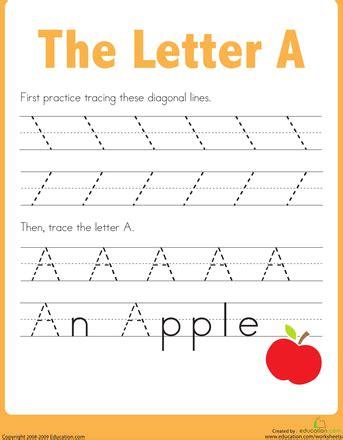 practice tracing  letter  teaching ideas preschool