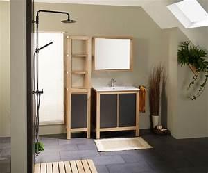 Miroir Bois Salle De Bain : salle de bain conforama en bois photo 11 15 bloc et vasque miroir cadre en panneau de ~ Teatrodelosmanantiales.com Idées de Décoration