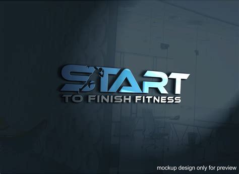serious modern logo design for start to finish fitness by ava design 7884921