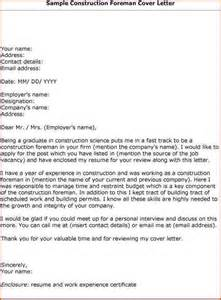 Construction Resume Cover Letter Examples