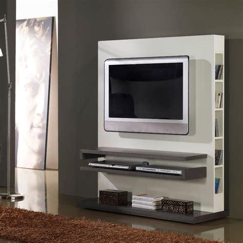 tele pour cuisine meuble tv design gris et blanc laqué deco et saveurs