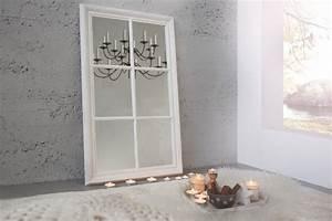 Vintage Spiegel Weiß : romantischer spiegel window grau vintage wei 105 cm im shabby look riess ~ Indierocktalk.com Haus und Dekorationen