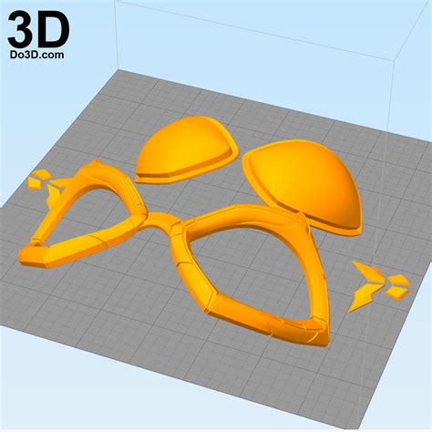 3d Printable Model Catwoman Arkham Knight Goggles (lens