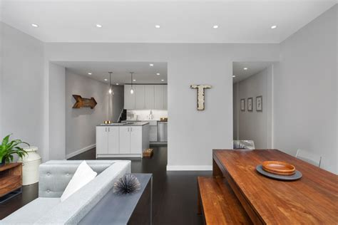 small kitchen decorating ideas for apartment dove grey paint living room modern with wood table