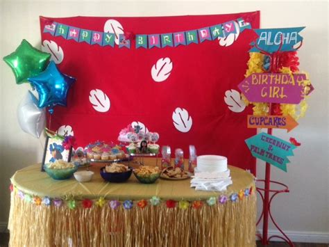 lilo stitch theme party birthday banner hand painted