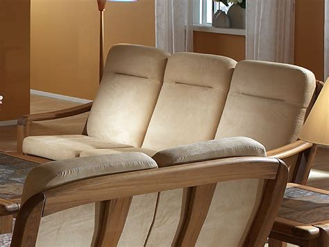Divano Legno Tre Posti : 3 Seater Wooden Sofa 1240ah By Dyrlund