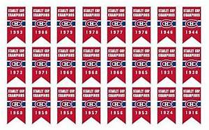 Montreal Canadiens Stanley Cup Championship Banner Pin ...