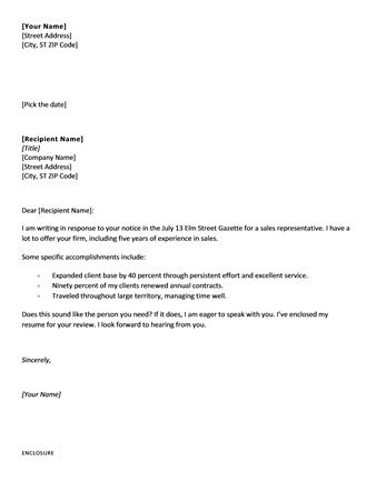 Simple Cover Letter Format Hone Geocvc Co