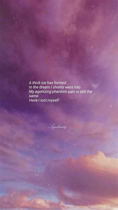 Aesthetic Quotes Bts Lyrics Lyric Wallpapers Words