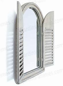 Miroir De Porte à Suspendre : miroir en bois 2 portes blanc ivoire mobilier de jardin ~ Teatrodelosmanantiales.com Idées de Décoration