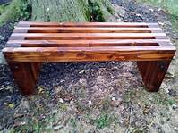 how to build a wood bench Handmade Rustic Outdoor Wooden Bench